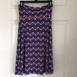 LuLaRoe   XS Azure Skirt in Red, White, & Blue